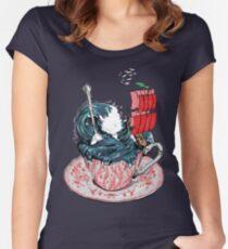 Sturm im Wasserglas Tailliertes Rundhals-Shirt
