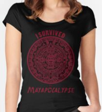 Mayan Apocalypse Survivor Women's Fitted Scoop T-Shirt