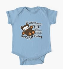 Soft Owlbear - Grrr Grrr Grrr One Piece - Short Sleeve