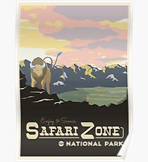 Safari-Zone Poster