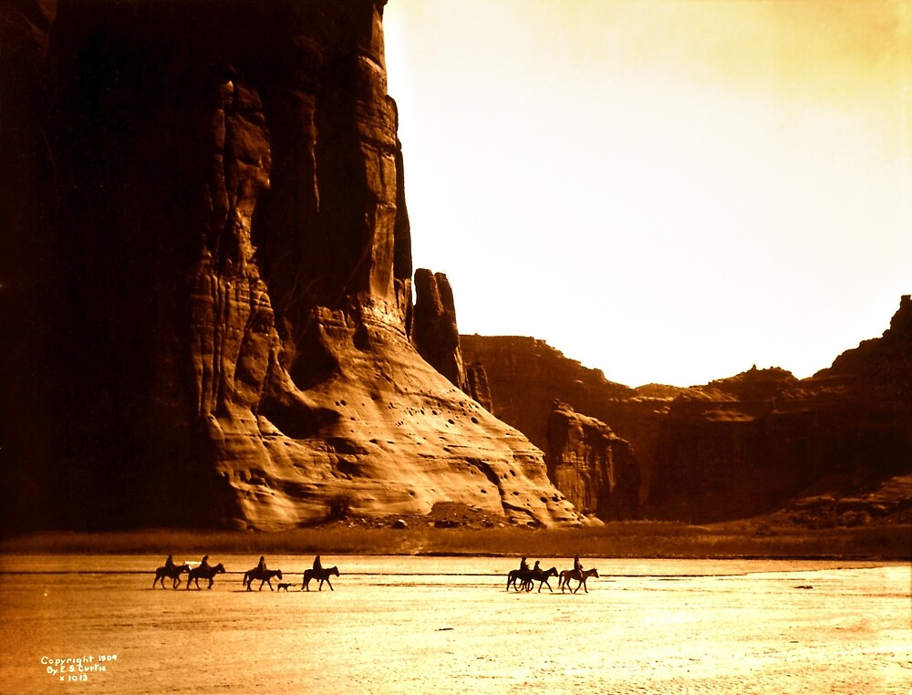 Vintage Photograph of Canyon de Chelly by pdgraphics