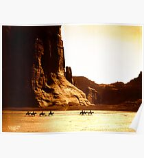 Vintage Photograph of Canyon de Chelly Poster