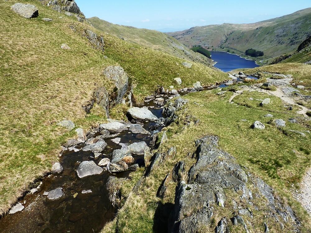 Looking Down Onto Haweswater, Cumbria by Graham Geldard