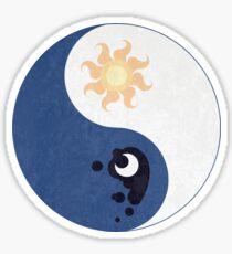Celestia and Luna Yin Yang Sticker