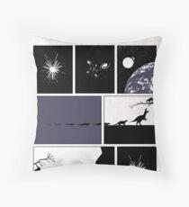 99 Steps of Progress - Big bang Throw Pillow