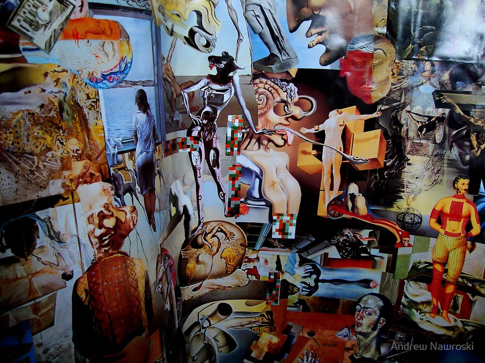 Quot Dali Collage Quot By Andrew Nawroski Redbubble