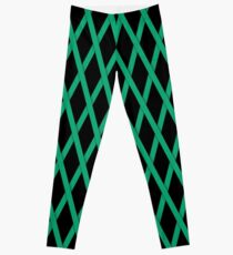 Green Criss Cross Ribbon Leggings