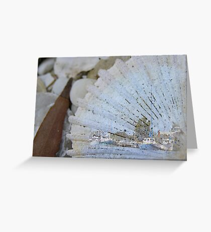 Fishing Wharf on Shell Greeting Card