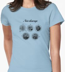 Nice cleavage Womens Fitted T-Shirt