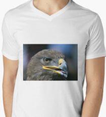 Steppenadler T-Shirt mit V-Ausschnitt für Männer