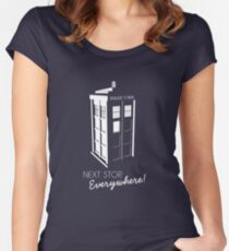 Police Call Box - Next Stop Everywhere! Women's Fitted Scoop T-Shirt
