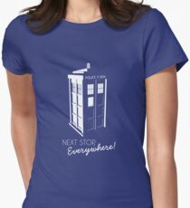 Police Call Box - Next Stop Everywhere! Women's Fitted T-Shirt