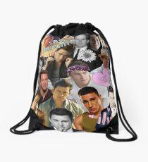 Channing Tatum Collage Drawstring Bag
