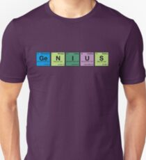 GENIUS! Periodic Table Scrabble Unisex T-Shirt