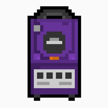 "Pixel ""GameCube"" Sticker by PixelBlock"