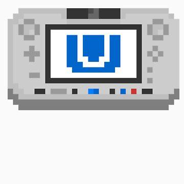 "Pixel ""Wii U"" Sticker by PixelBlock"