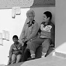 waiting with Nana by geof