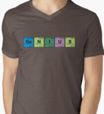 GENIUS! Periodic Table Scrabble Mens V-Neck T-Shirt