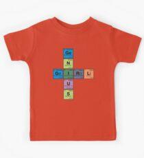 GIRL GENIUS! Periodic Table Scrabble Kids Tee