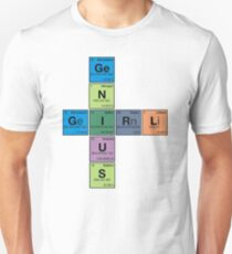 GIRL GENIUS! Periodic Table Scrabble Unisex T-Shirt