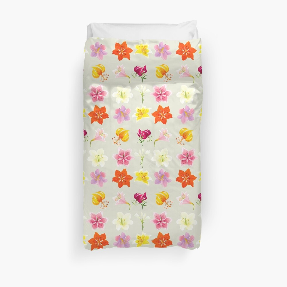 Colorful Lilies Duvet Cover