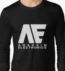 Anaheim Electronics Logo White Long Sleeve T-Shirt