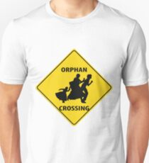 Orphan Crossing Road Sign Unisex T-Shirt