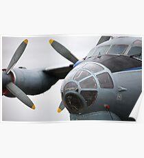 Military transport aircraft AN12 Poster