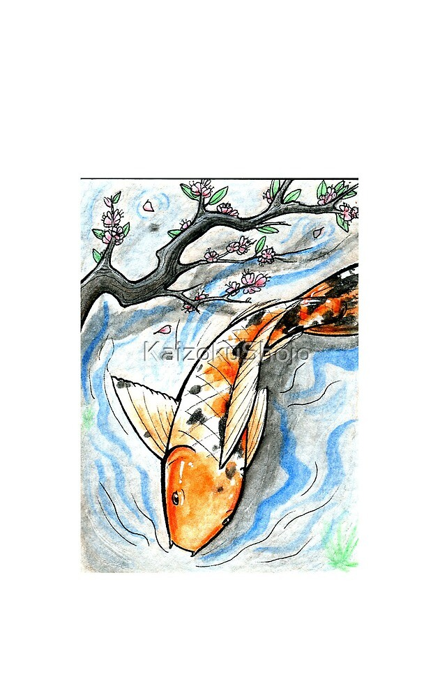 Watercolour Koi by KaizokuShojo