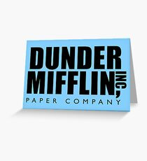 Dunder Mifflin Inc. Greeting Card