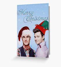 Christmas Klaine Greeting Card