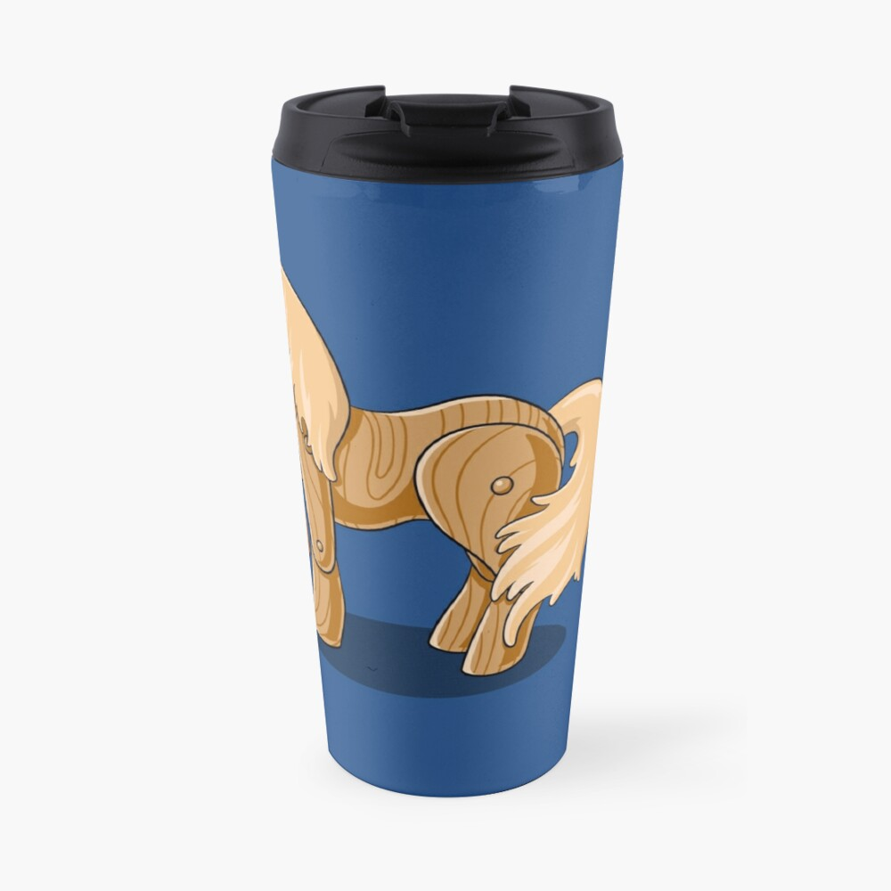 Unocchio the Wooden Unicorn Travel Mug