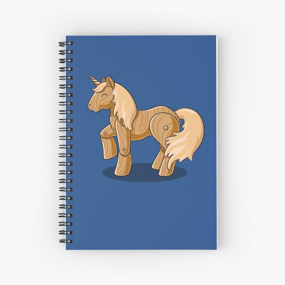 Unocchio the Wooden Unicorn Spiral Notebook