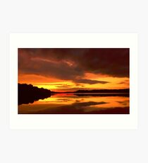 Sunset at Ferrycarrig, County Wexford, Ireland Art Print
