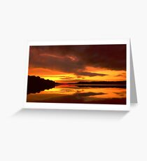 Sunset at Ferrycarrig, County Wexford, Ireland Greeting Card