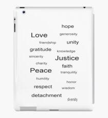 Love Peace Justice - White iPad Case/Skin