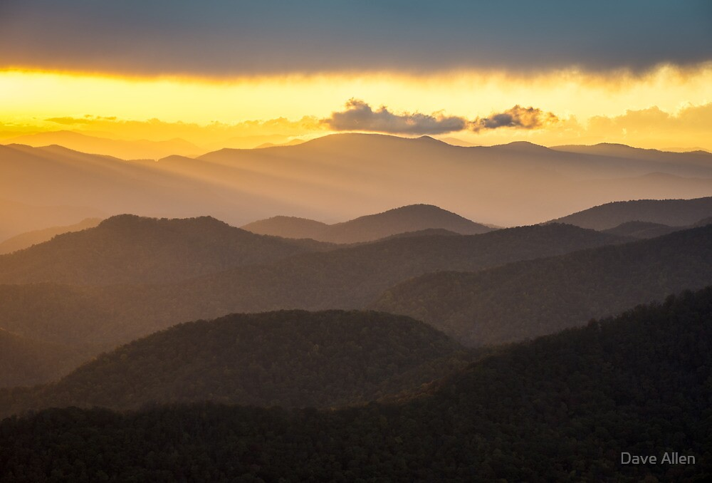 Blue Ridge Parkway Sunset - Appalachian Gold by Dave Allen