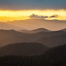 Blue Ridge Parkway Sunset - Appalachian Gold by Dave Allen