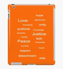 Love Peace Justice - Tangerine iPad Case/Skin