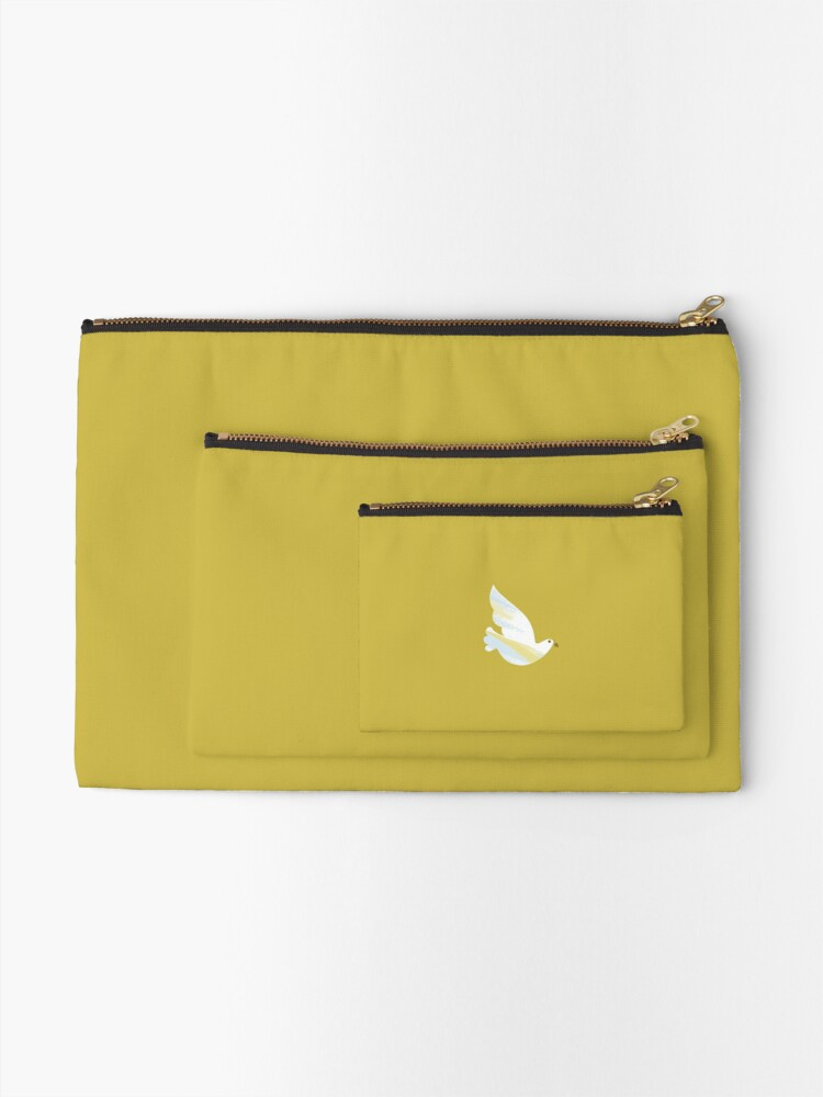 Alternate view of Christmas Dove Zipper Pouch