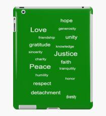 Love Peace Justice - Green iPad Case/Skin