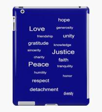 Love Peace Justice - Blue iPad Case/Skin