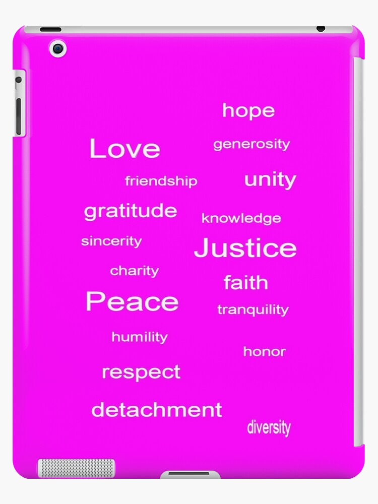 Love Peace Justice - Fuchsia by kitsolo9
