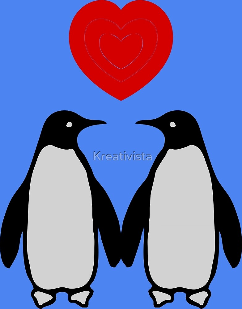 Penguins in love by Kreativista
