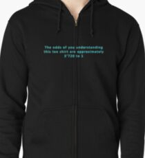 The Odds Are 3720 to 1; Blue Zipped Hoodie