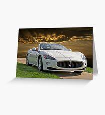 2011 Maserati Gran Turismo Greeting Card