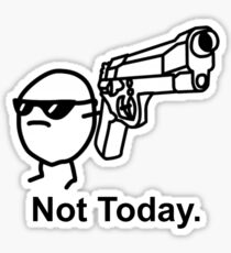 The Captioned Not Today Potato Asdfmovie Tribute Sticker