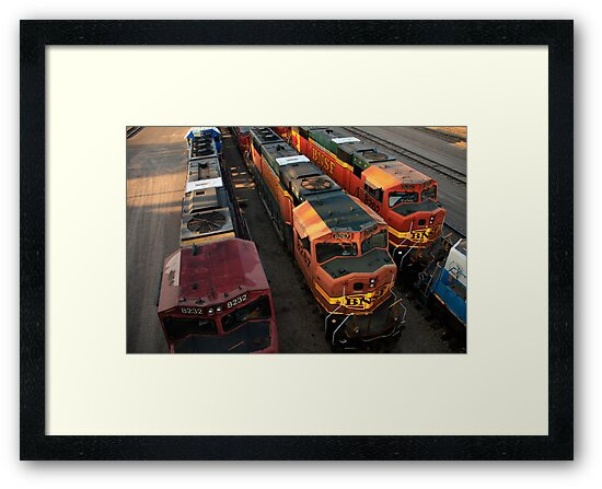 Train Engines by Gary Horner