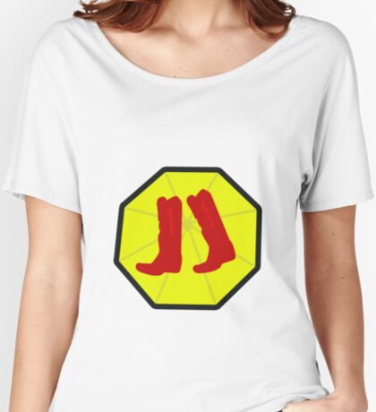 Red Boots and Yellow Umbrella Women's Relaxed Fit T-Shirt