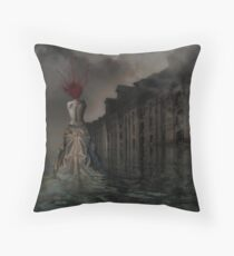 Medusa Arising Throw Pillow